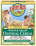 Earth's Best Organic Infant Cereal, Whole Grain Oatmeal, 8 oz. Box (Pack of 12)
