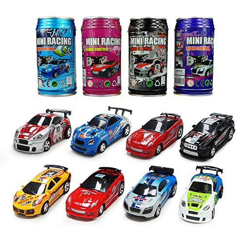 ARRIS Multicolor Coke Can Mini RC Radio Remote Control Micro Racing Car Hobby Vehicle Toy Gift (1pcs)