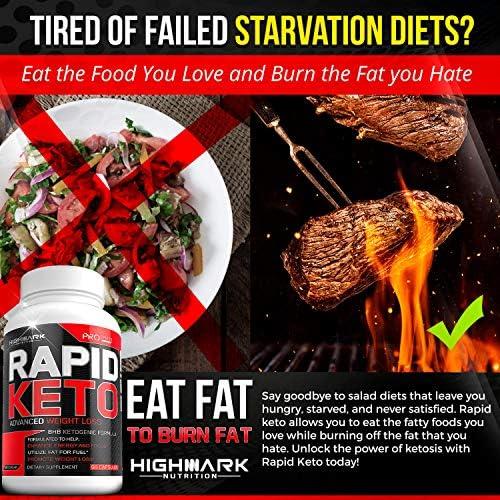 Rapid Keto Diet Pills | Advanced Ketogenic Diet Weight Loss Supplement | BHB Salts Exogenous Ketones Capsules for Men & Women | Fast & Effective Ketosis Diet Fat Burner | Instant Keto Boost | 60 7