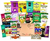 GLUTEN FREE and VEGAN Healthy Snacks Care Package (28 Ct): Plant-Based Snacks, Bars, Chips, Crispy Fruit, Nuts Trail Mix, Gift Box Sampler, Office Variety, College Student Care Package, Gift Basket