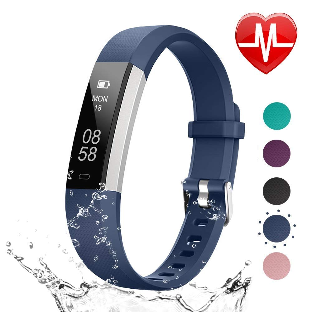 LETSCOM Fitness Tracker HR, Heart Rate Monitor Watch with Sleep Monitor Step Counter Pedometer, Waterproof Smart Fitness Watch, Activity Tracker for Kids Women and Men