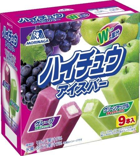 森永製菓 ハイチュウアイスバー<グレープ&グリーンアップル> 40ml×9本×8箱