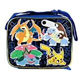 2015 Pokemon Pikachu Black & Blue School Lunch Bag