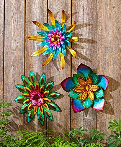 Metal outdoor wall art metal home wall art decor home for Outdoor wall flowers