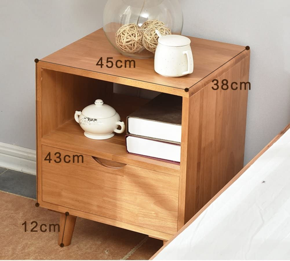 Solid Wood Bedside Table Bedroom Bedside Cabinet Simple Modern Bucket Cabinet Low Cabinet Bedside Locker Pine Log Color Drawer Nightstand G Amazon Ca Home Kitchen