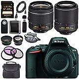 Nikon D5500 DSLR Camera with AF-P 18-55mm VR Lens (Black) + Nikon 55-200mm f/4-5.6G ED VR II Lens + Sony 128GB SDXC Card + Carrying Case Bundle