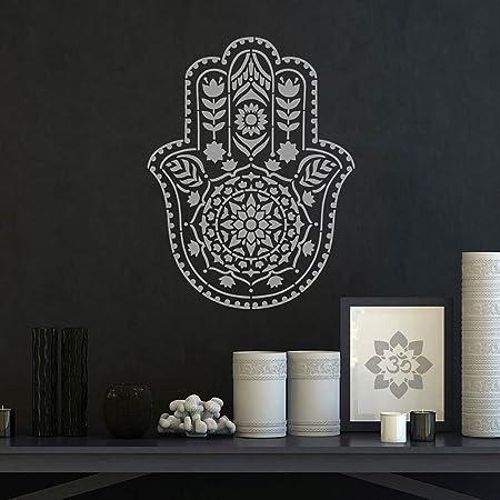 Mandala Stencil Hamsa Hand Reusable Stencils For Walls Better