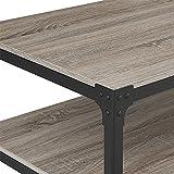Walker Edison Furniture 48' Angle Iron Rustic Wood Coffee Table - Driftwood