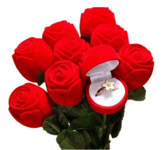 This bouquet of roses is such a creative Valentine's day gift for her!