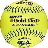 Worth GSL Slow-Pitch Pro Comp XT Classic Soft Balls, 12' (Dozen)