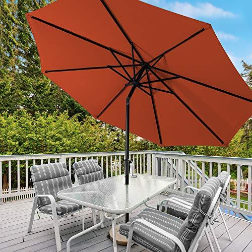 Serwall Patio Umbrella Outdoor Table, Red Patio Table Umbrella