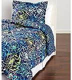 Vera Bradley Katalina Blues Twin/Twin XL Comforter Set - Navy Aqua Floral