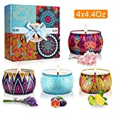 Y YUEGANG Scented Candles Gifts Set for Women, Natural Soy Wax,Fragrances Aromatherapy Candles Travel Tin, Birthday Valentine's Day Christmas Aromatherapy
