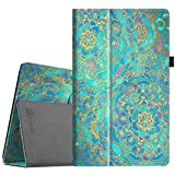 Fintie Folio Case for All-New Amazon Fire HD 10 Tablet (7th Generation, 2017 Release) - Premium PU Leather Slim Fit Smart Stand Cover with Auto Wake/Sleep for Fire HD 10.1' Tablet, Shades of Blue