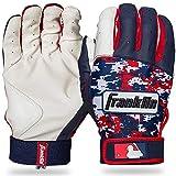 Franklin Sports MLB Digitek Baseball Batting Gloves - White/Navy/Red Digi - Adult X-Large