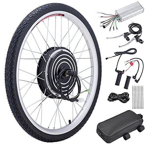 "Pinty FT0500 26"" Front Wheel 36V 500W Ebike Hub Motor Conversion Kit with Dual Mode Controller for Electric Bicycle Bike, Up to 17-19 MPH"