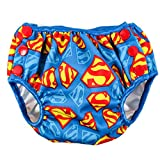 Bumkins DC Comics Reusable Swim Diaper, Superman Print, Small