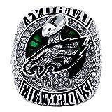 SBCRING Philadelphia Eagles Championship Replica Ring 2017-2018 Super Bowl LII Foles and Wentz Eagles Ring Size 8/9/10/11/12/13 (11)