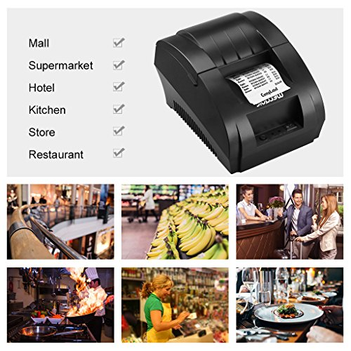 WELQUIC 58MM USB Thermal Printer,High Speed, Compatible with Android & IOS  & Windows & Linux systems and ESC / POS Print Commands Set