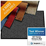 casa pura Premium Entry Mat | Entrance Mat Comparison Test Score: Very Good (A-/1.3) | Ideal as Front Door Mat or Entry Rug | Charcoal Gray - 48' x 72'