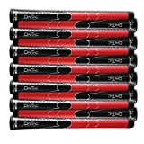 SET OF 9 WINN DRITAC AVS STANDARD BLACK / RED GOLF GRIP. 5DT-BRD