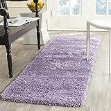 Safavieh California Premium Shag Collection SG151-7272 Lilac Runner (2'3' x 5')