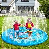 UPSTONE Sprinkler Pad and Splash Play Mat 68' Kids Children Toddler Outside Water Toys Fun for 1 2 3 4 5 Year Old Boy Girl Outdoor Party Sprinkler Toy Splash Pad