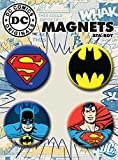 "Ata-Boy DC Comics Superman and Batman Set of 4 1.25"" Button Magnets for Refrigerators and Lockers"