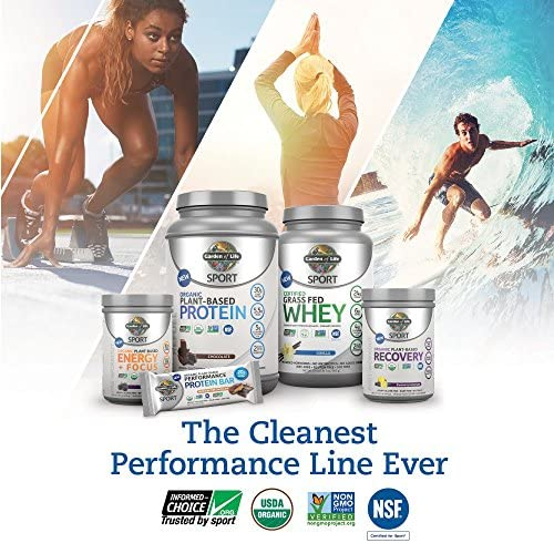 Garden of Life Sport Organic Pre Workout Energy Plus Focus Vegan Energy Powder, BlackBerry, 12 Count 6
