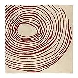 Ikea Eivor Cirkel Rug, Low Pile, White/Red