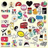 Cute Decal Stickers for Laptop and Water Bottles, Ztotop Waterproof Durable Trendy Vinyl Laptop Decal Stickers Pack for Teens, Water Bottles, Computer, Travel Case - 45pcs