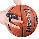 Kuangmi Adjustable Finger Support Sleeve (2 Pieces) Protector Splint Belt Bandage Pain Relief for Men Women Basketball Volleyball Tennis (S/M, Black)
