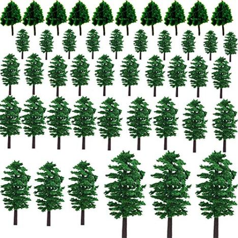 NW-55pcs-Mixed-Model-Trees-Model-Train-Scenery-Architecture-Trees-Model-Scenery-with-No-Stands-Street-View-Model-Scale-for-Model-Building-Dollhouse-Decoration-55pcs-All-Green157-354inch