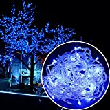 Autolizer 100 LED Blue Fairy String Lights Lamp for Xmas Tree Holiday Wedding Party Decoration Halloween Showcase Displays Restaurant or Bar and Home Garden - Control up to 8 Modes