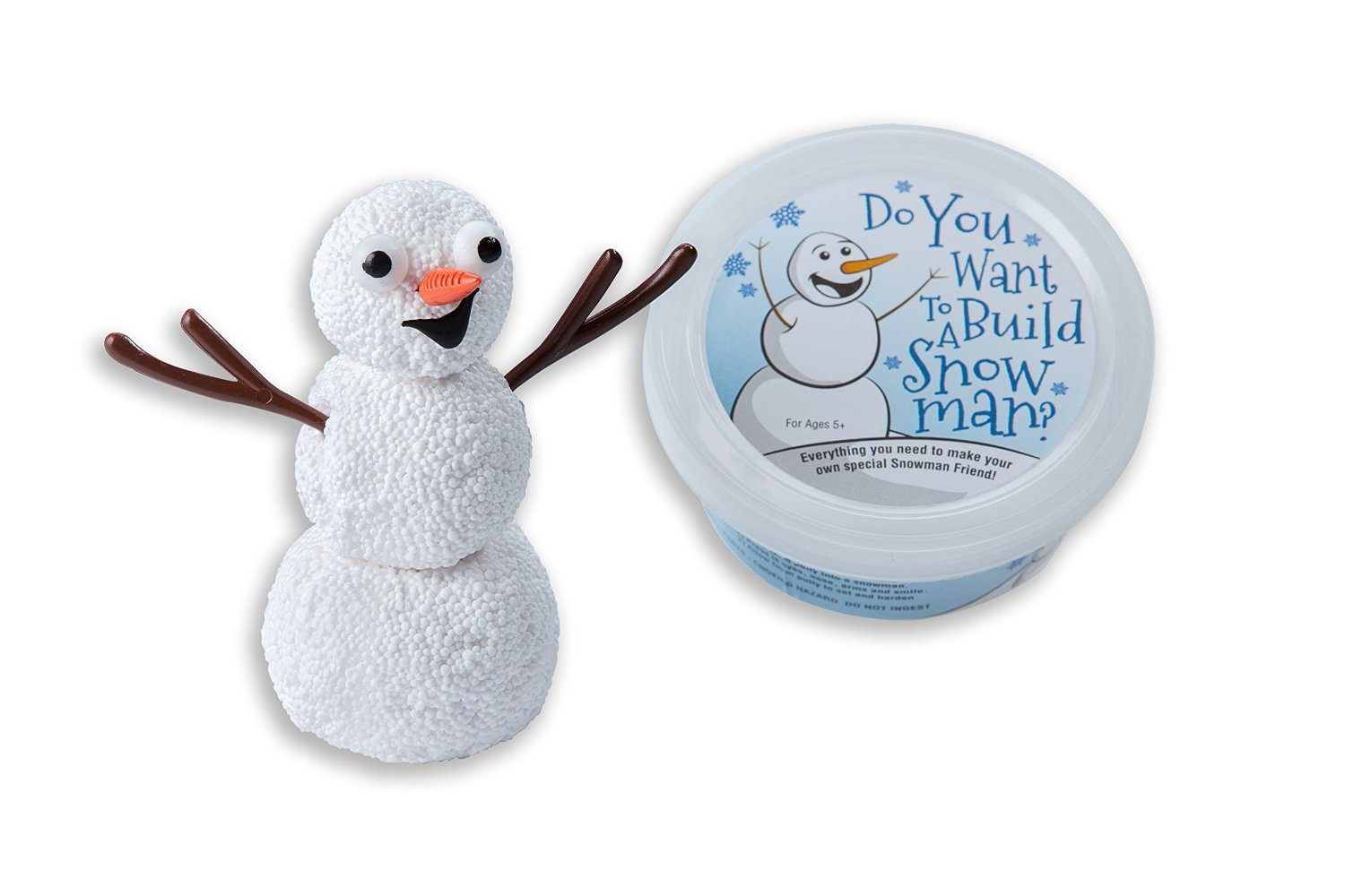 Mold Foam Putty Into A Snowman; Perfect For Birthday Party Favors or Stocking Stuffers For Kids