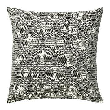 Ikea Nattljus Housse De Coussin Blanc Noir 50x50 Cm