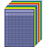 Creative Shapes Etc LLC Large Vertical Incentive Chart Set, 22 x 28 Inches, Assorted Color, Set of 12 - 076256