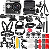 Neewer G1 Ultra HD 4K Action Camera Kit Includes 12MP, 98 ft Underwater Waterproof Camera 170 Degree Wide Angle WiFi Sports Cam High-tech Sensor with 50-in-1 Action Camera Accessory Kit