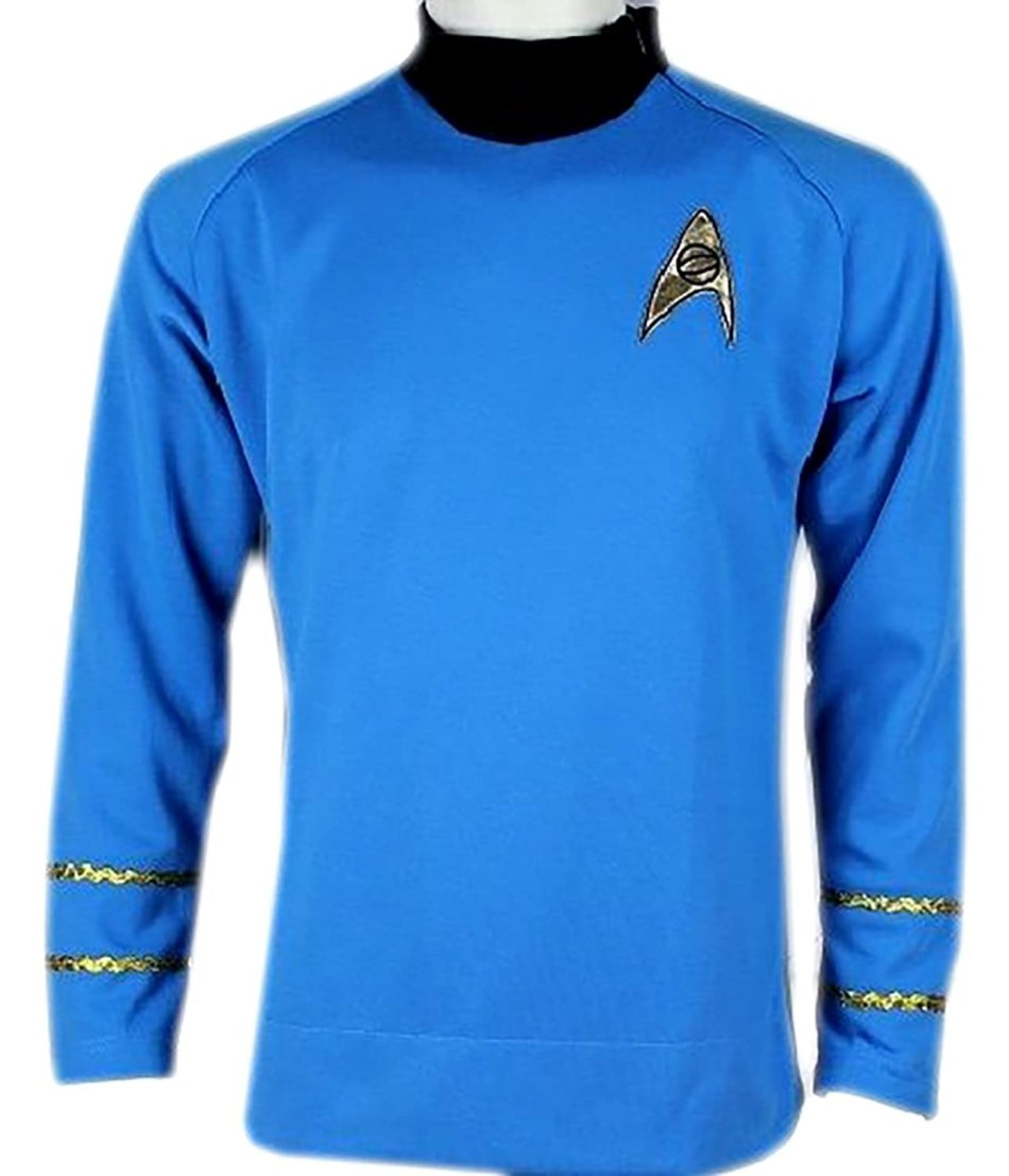 Star Trek Captain Kirk Spock Classic Shirt Costume Uniform TOS