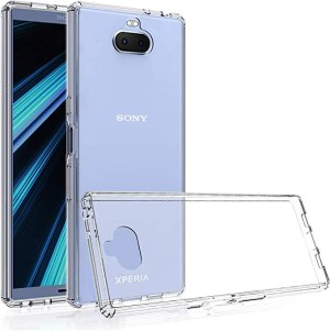 Olixar for Sony Xperia 10 Bumper Case - Hard Tough Cover - Crystal Clear Back - Wireless Charging Compatible - ExoShield - Shock Protection - Clear
