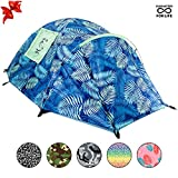 CHILLBO CABBINS Best 2 Person Tent with Cool Patterns ULTIMATE HOLIDAY CAMPING GEAR GIFT for Backpacking Car Camping Music Festivals Family Camping Tents for Camping Sleeps 2-3