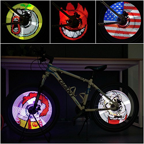 Xuanwheel S1 Bicycle Colorful Wheel Spoke Light 96 Pcs RGB LEDs APP Support DIY Riding Speed For Android 4.3 IOS 7