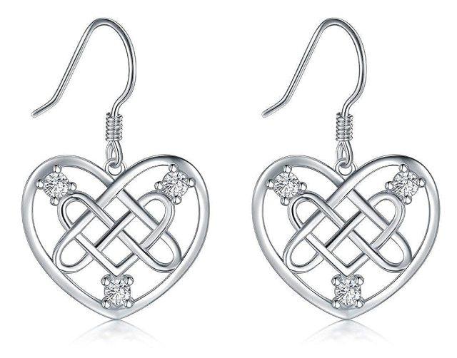 unique shape 22 Sterling Silver Hanmade Heart Shape Good Luck