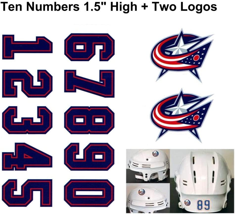Columbus Blue Jackets Nhl Hockey Helmet Decals Set Two Logos At Amazon S Sports Collectibles Store
