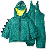 Carter's Baby Boys Character Snowsuit, Green Dinosaur, 12M