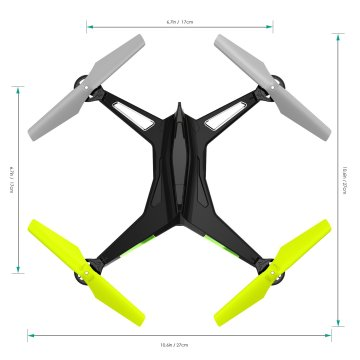Aukey Mohawk Quadrocopter Drohne - Abmessungen