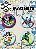 "Ata-Boy DC Comics Originals Superheroes Set of 4 1.25"" Button Magnets for Refrigerators and Lockers"