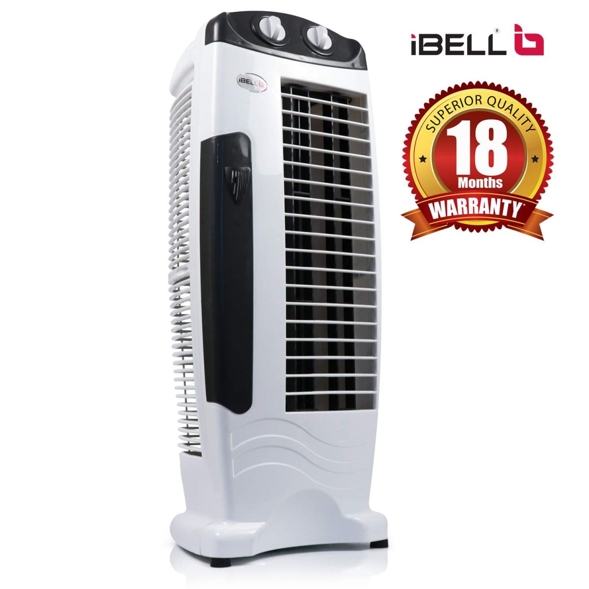 Ibell DELUXE Tower Fan with 25 Feet Air Delivery, 4-Way Air Flow, High Speed,Anti Rust Body (Black) 2020