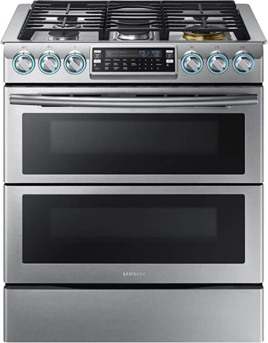 Amazon Com Samsung Appliance Nx58k9850ss 30 Slide In Gas Range With Sealed Burner Cooktop 5 8 Cu Ft Primary Oven Capacity In Stainless Steel Appliances