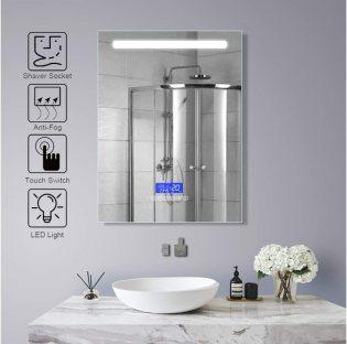 FYYSL Illuminated LED Bathroom Mirror Built-in Shaver Socket